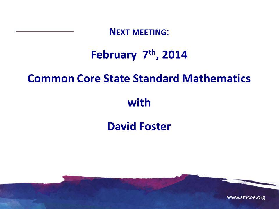 Common Core State Standard Mathematics