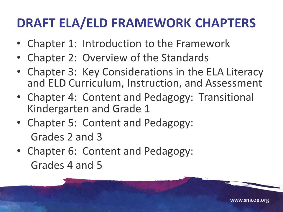 Draft ELA/ELD Framework Chapters