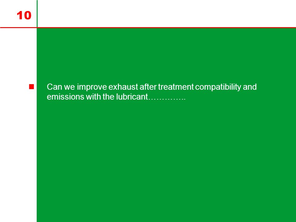 Can we improve exhaust after treatment compatibility and emissions with the lubricant…………..