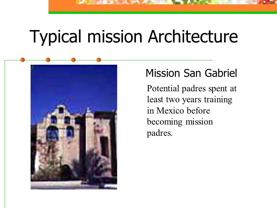 Typical mission Architecture