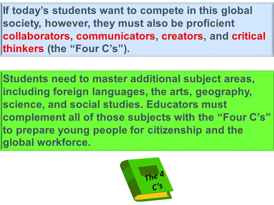 If today's students want to compete in this global