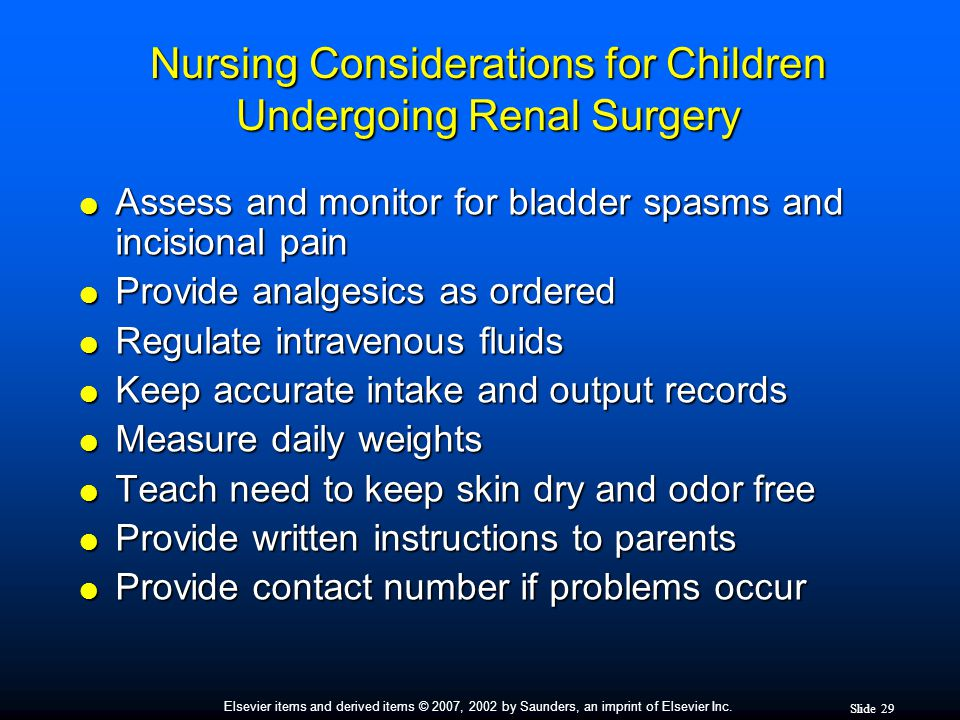 Nursing Considerations for Children Undergoing Renal Surgery