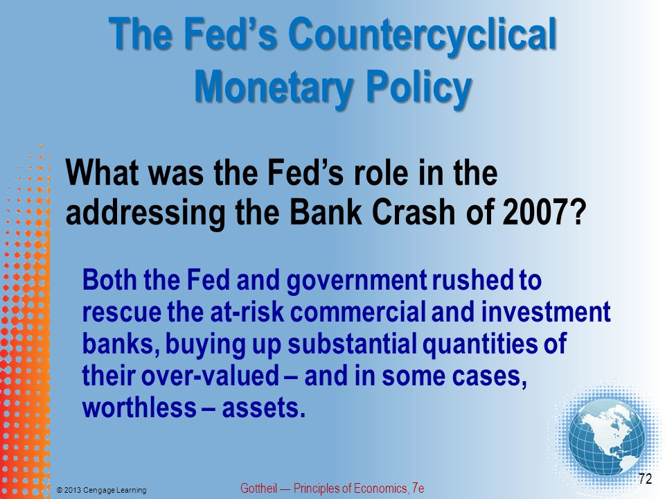 The Fed's Countercyclical Monetary Policy