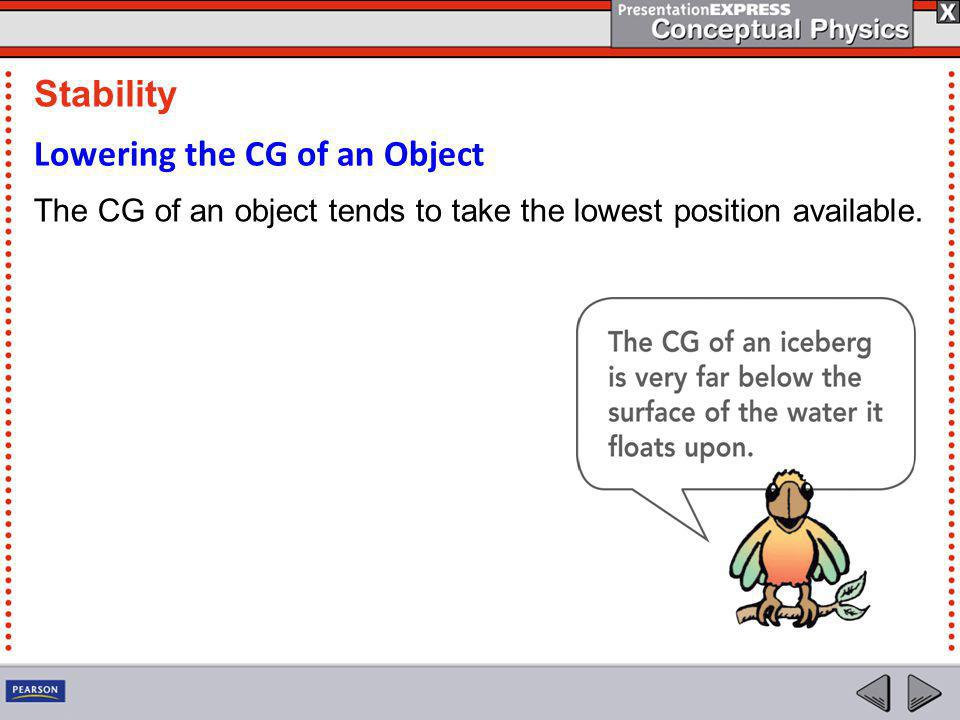 Lowering the CG of an Object