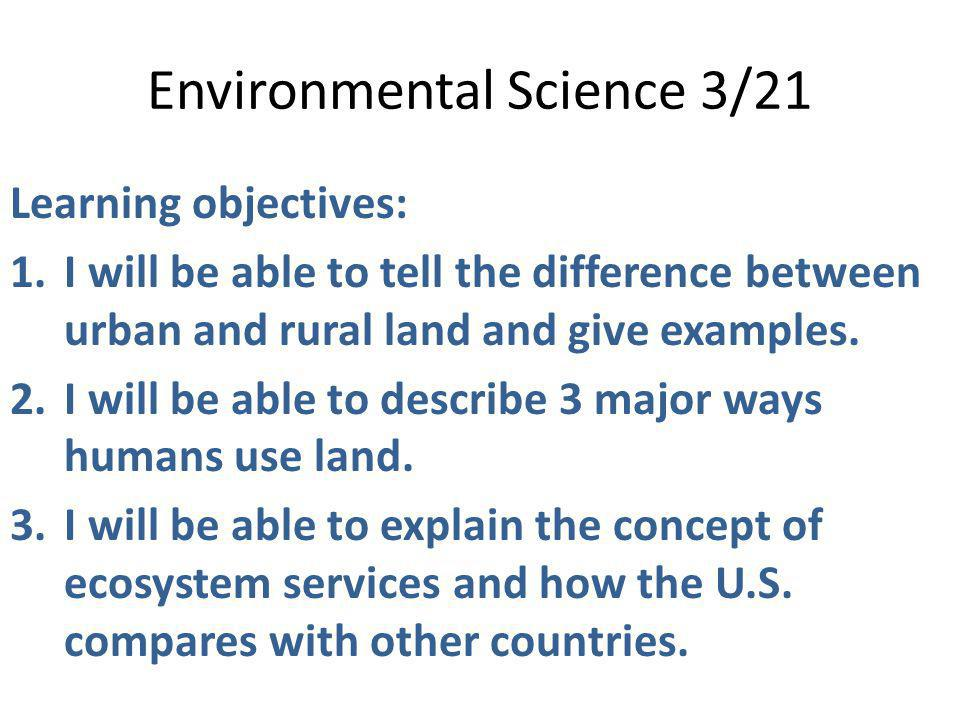 Environmental Science 3/21