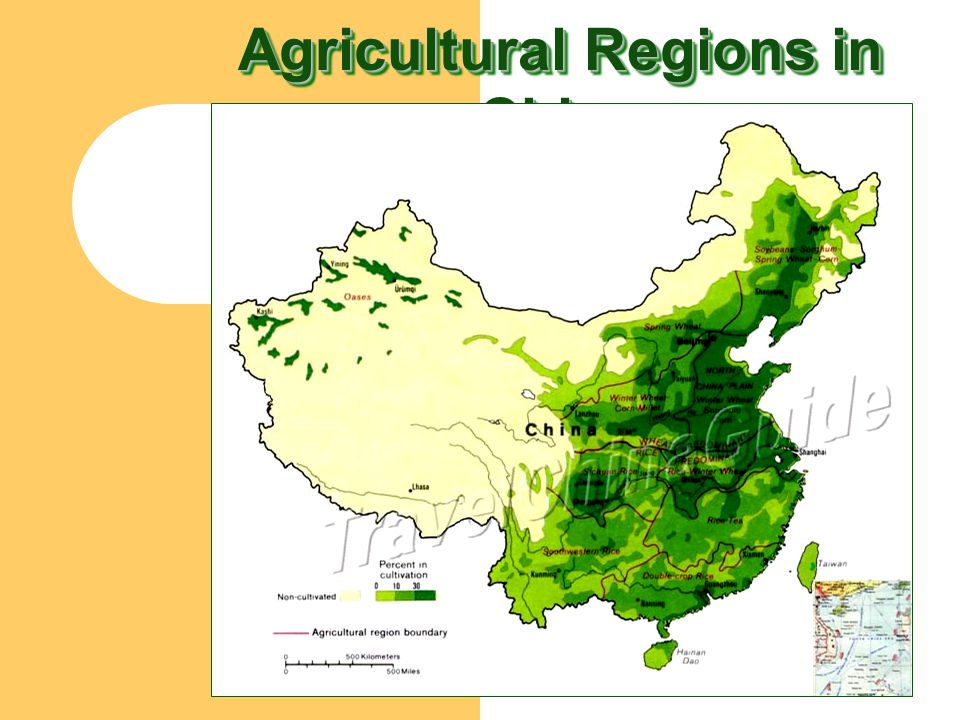 Agricultural Regions in China