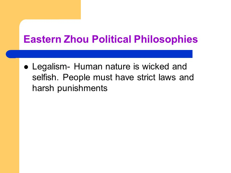 Eastern Zhou Political Philosophies