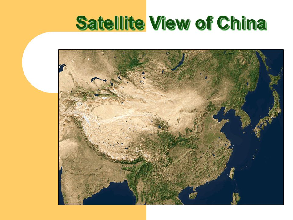 Satellite View of China