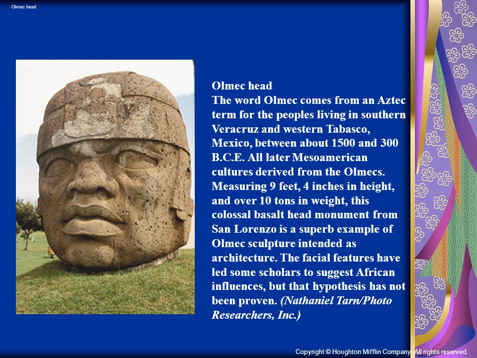 Olmec head Olmec head.