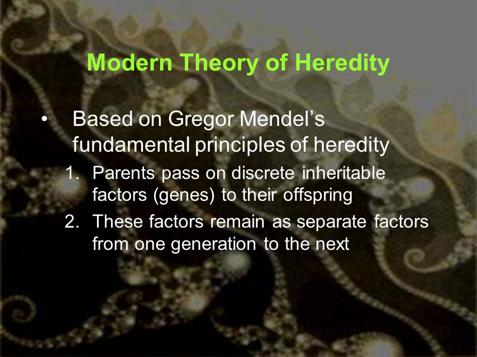 Modern Theory of Heredity