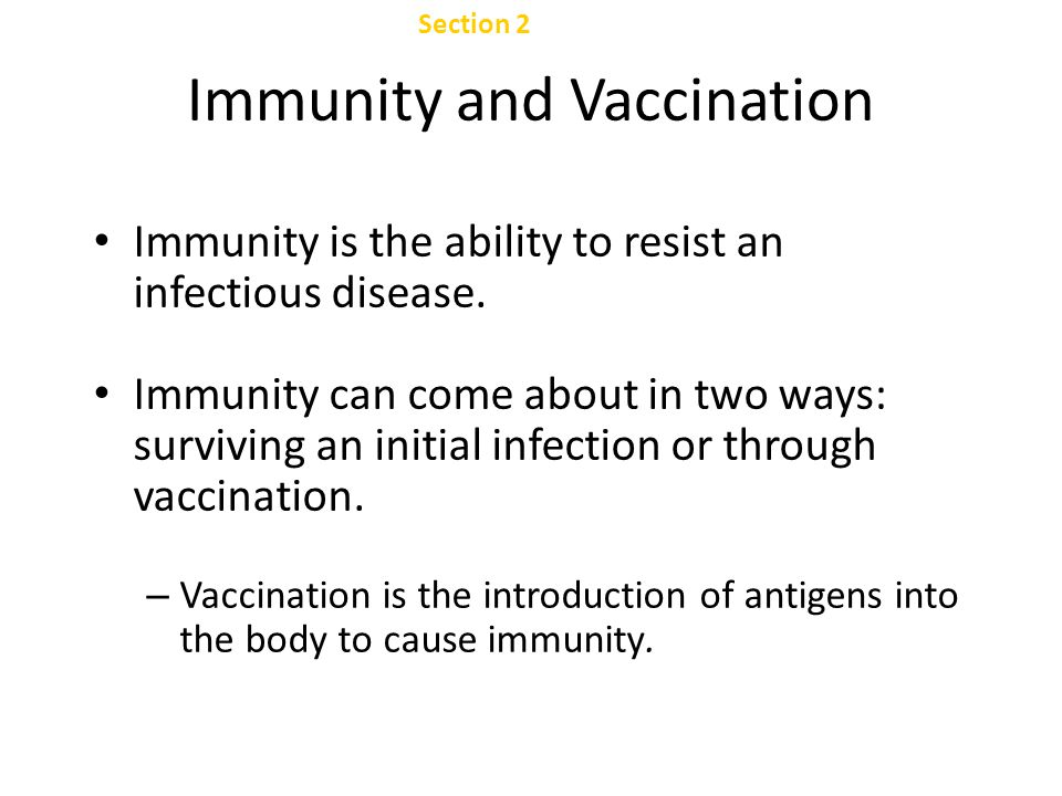 Immunity and Vaccination