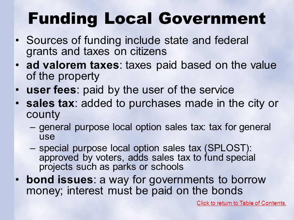 Funding Local Government