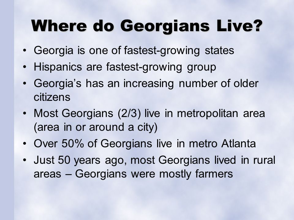 Where do Georgians Live