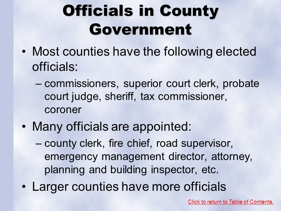 Officials in County Government