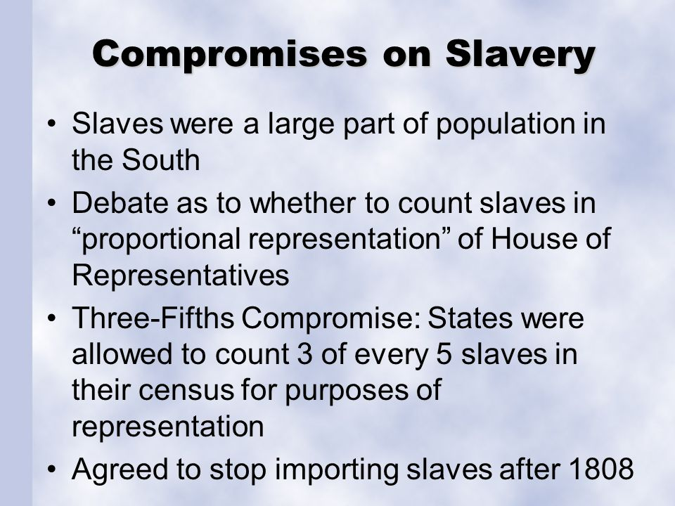 Compromises on Slavery