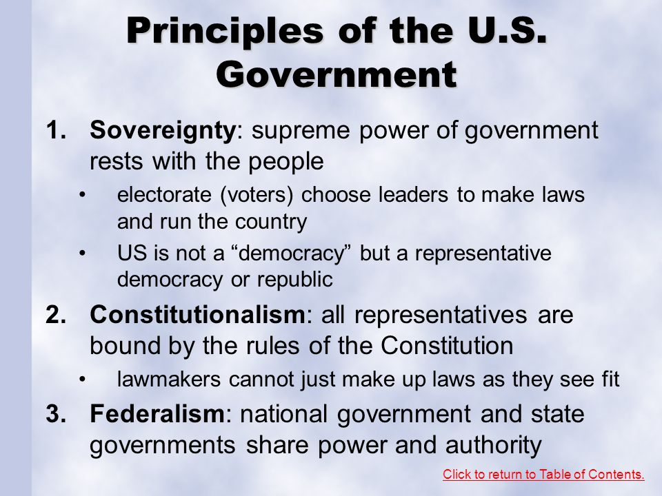 Principles of the U.S. Government