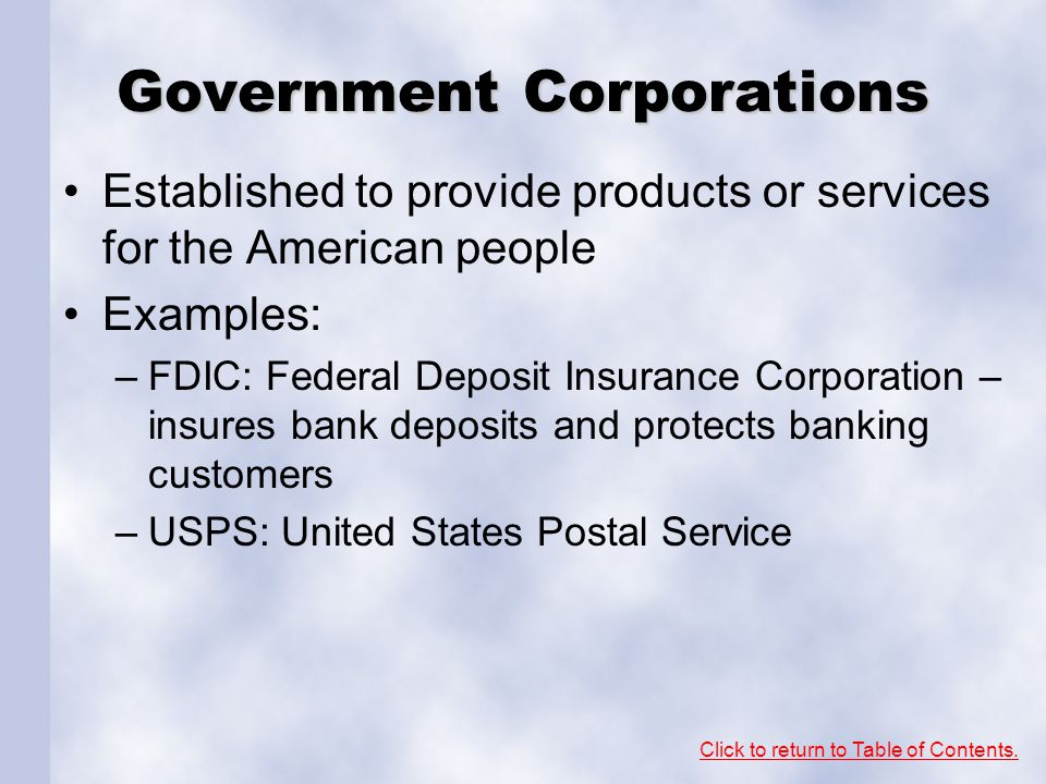 Government Corporations