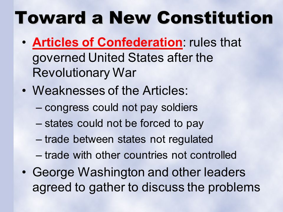 Toward a New Constitution
