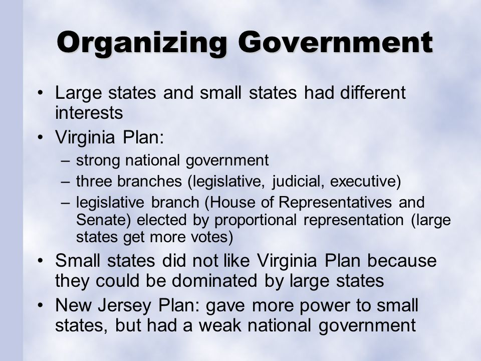 Organizing Government