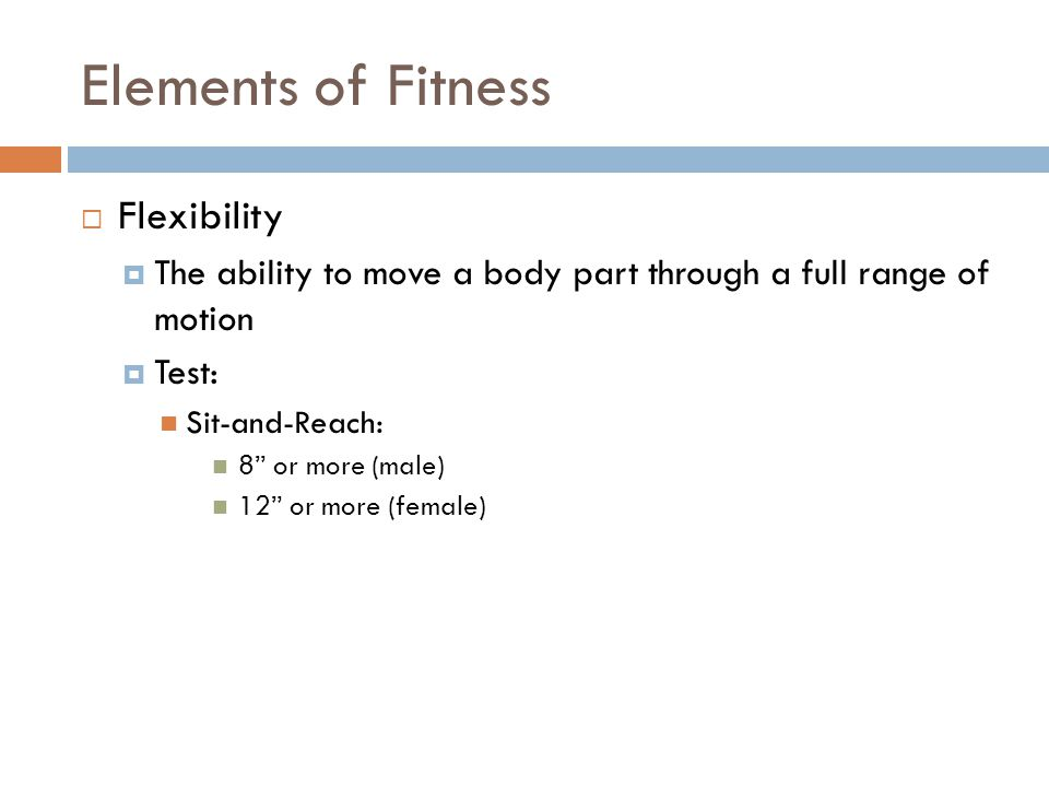 Elements of Fitness Flexibility