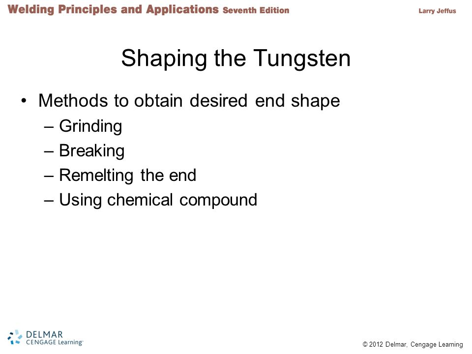 Shaping the Tungsten Methods to obtain desired end shape Grinding