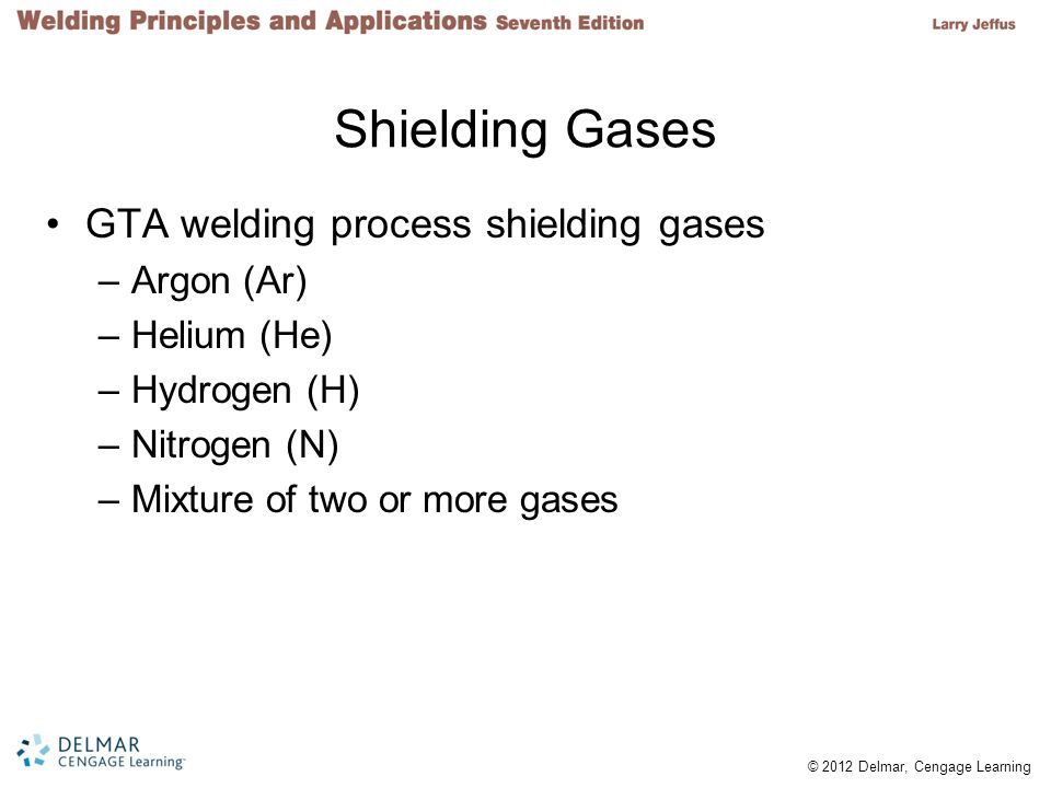 Shielding Gases GTA welding process shielding gases Argon (Ar)