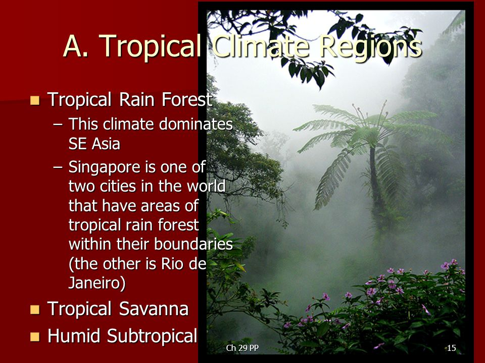 A. Tropical Climate Regions