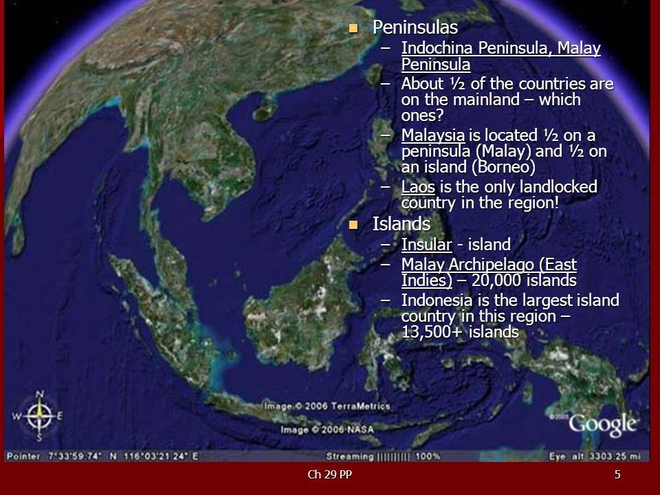 Peninsulas Islands Indochina Peninsula, Malay Peninsula