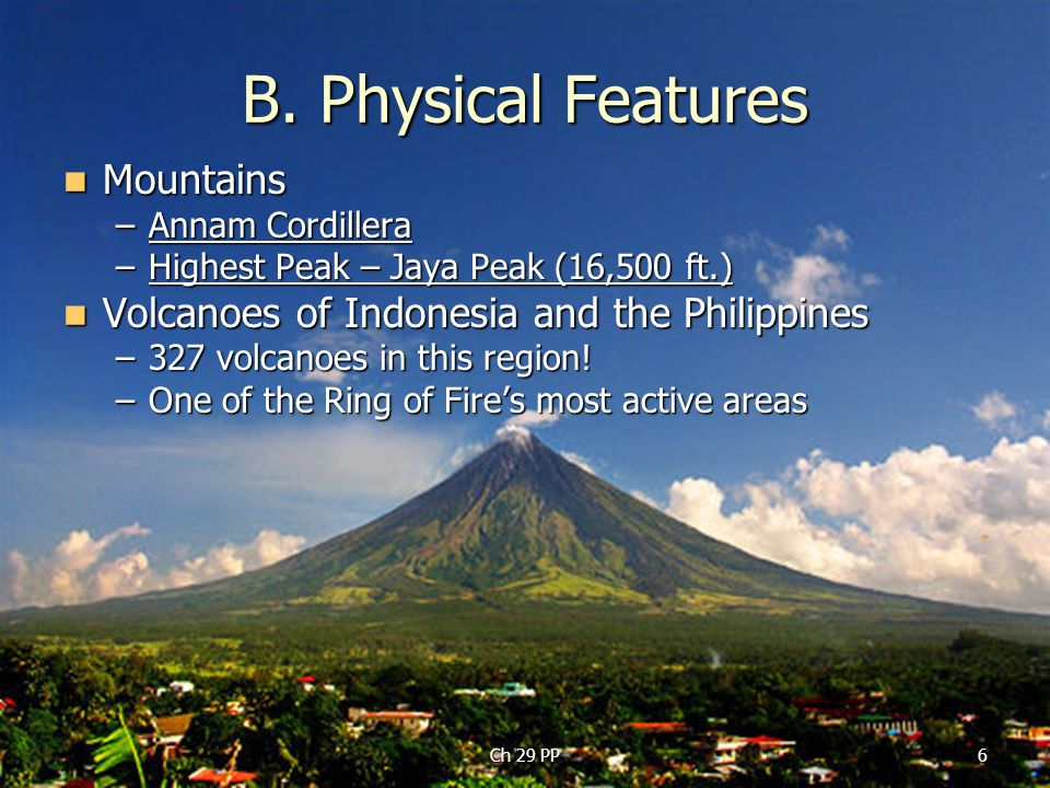 B. Physical Features Mountains