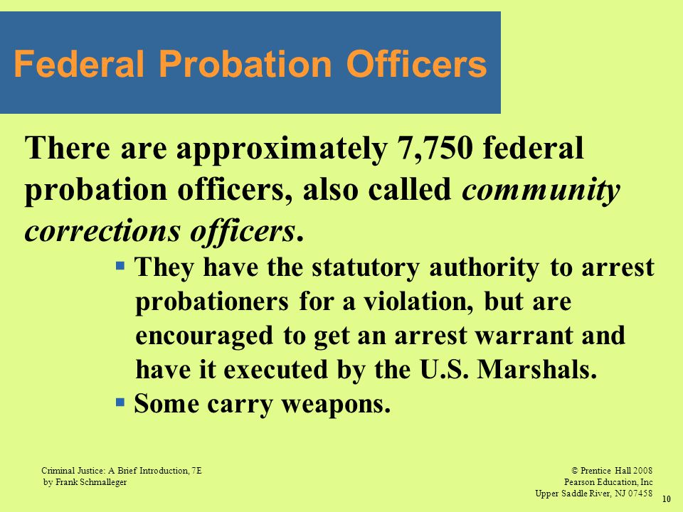 Federal Probation Officers