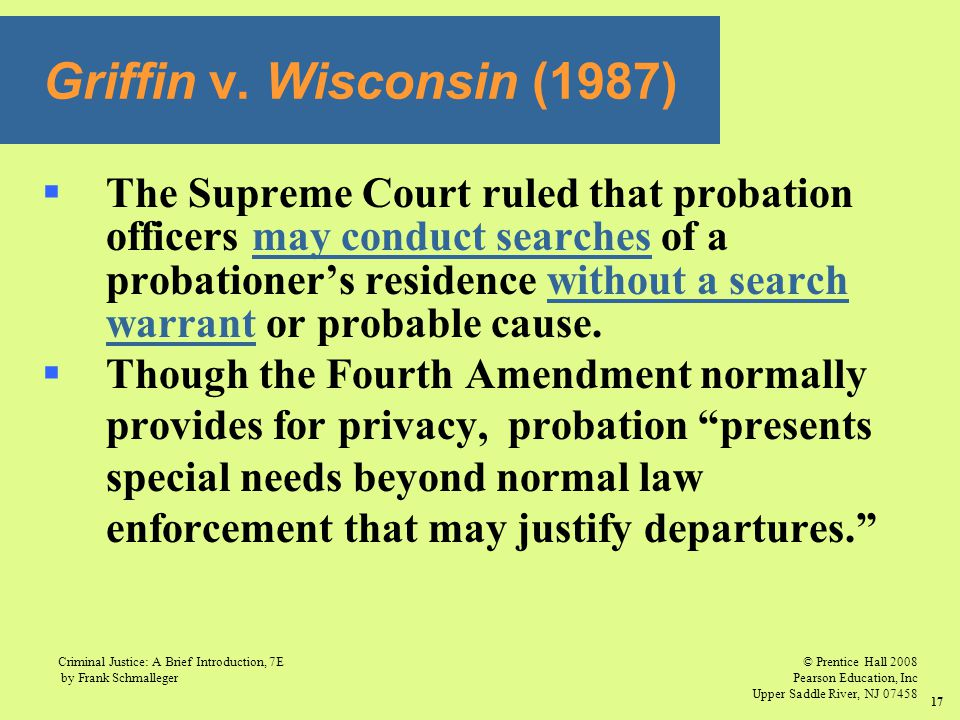 Griffin v. Wisconsin (1987)