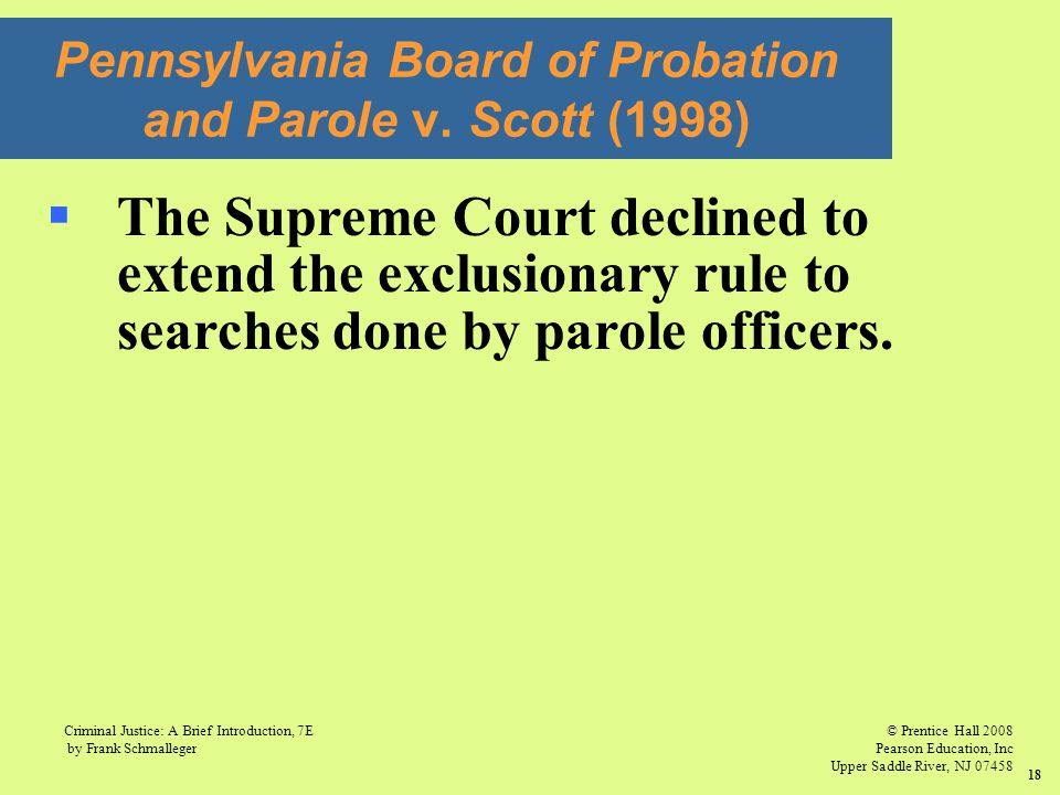 Pennsylvania Board of Probation and Parole v. Scott (1998)