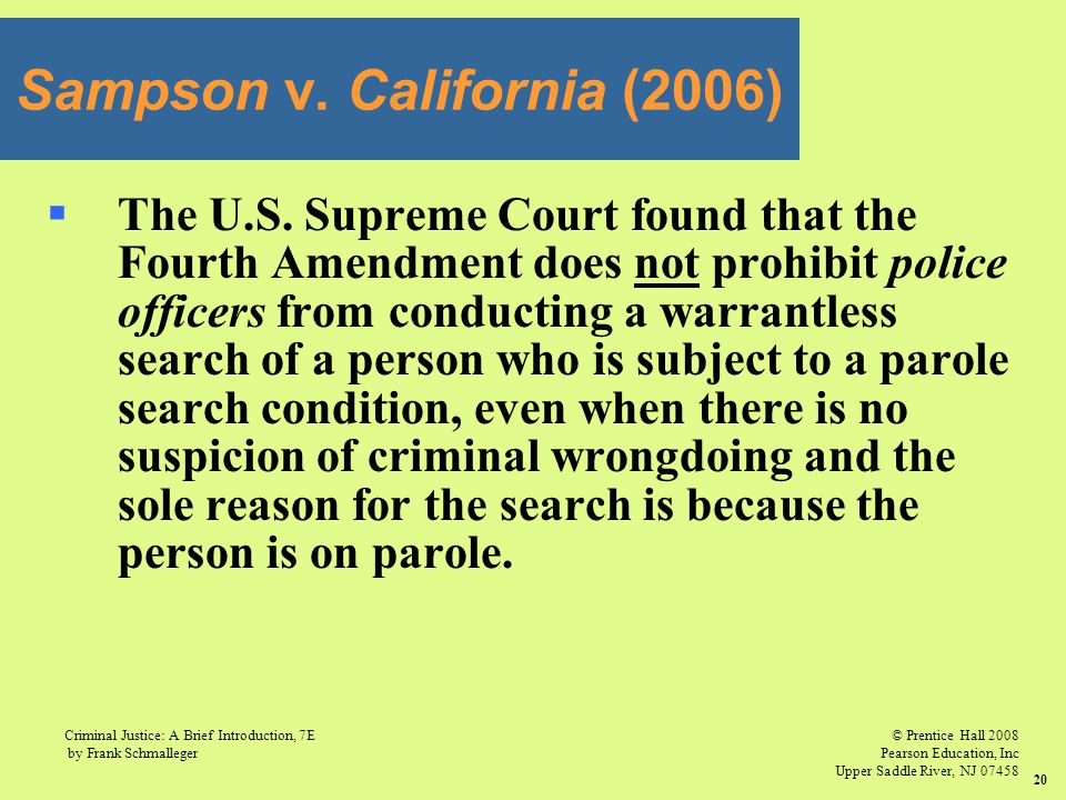 Sampson v. California (2006)