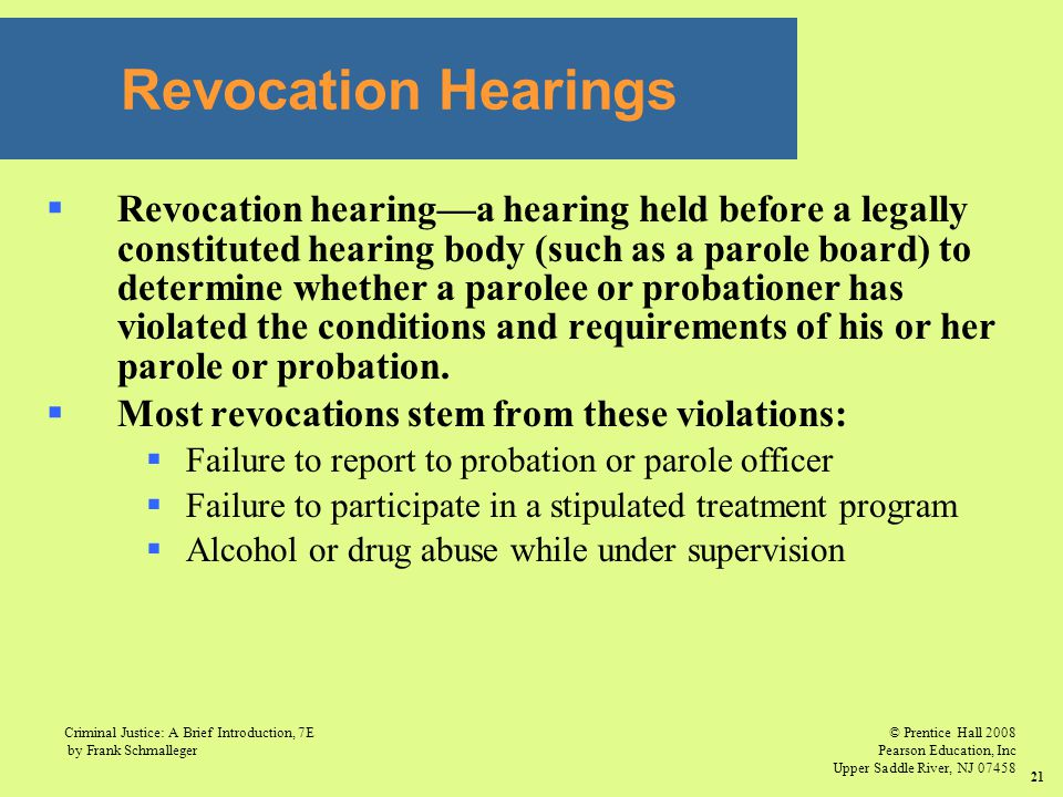 Revocation Hearings