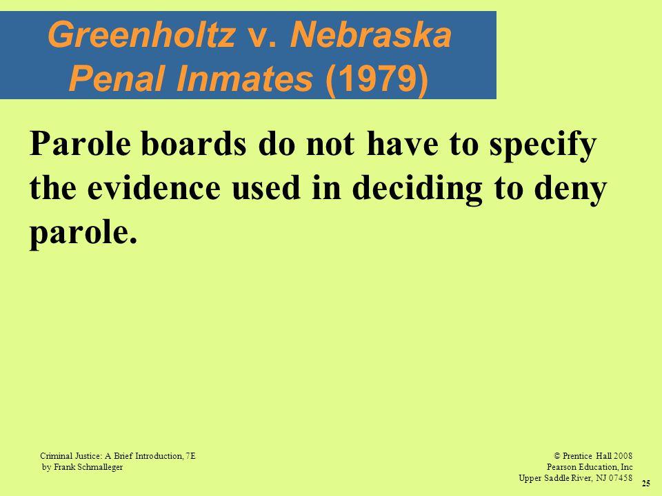 Greenholtz v. Nebraska Penal Inmates (1979)