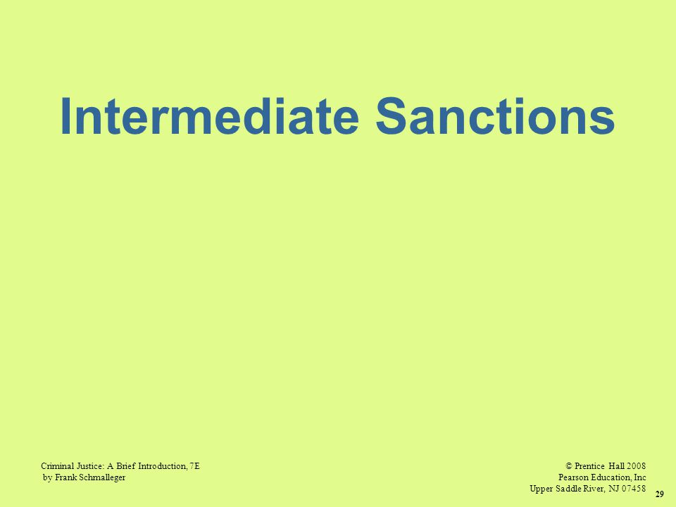 "intermediate sanctions and shock probation essay Intermediate sanctions diane l feehan axia college foundations of the criminal intensive supervision probation (""isp"") programs, shock similar essays."