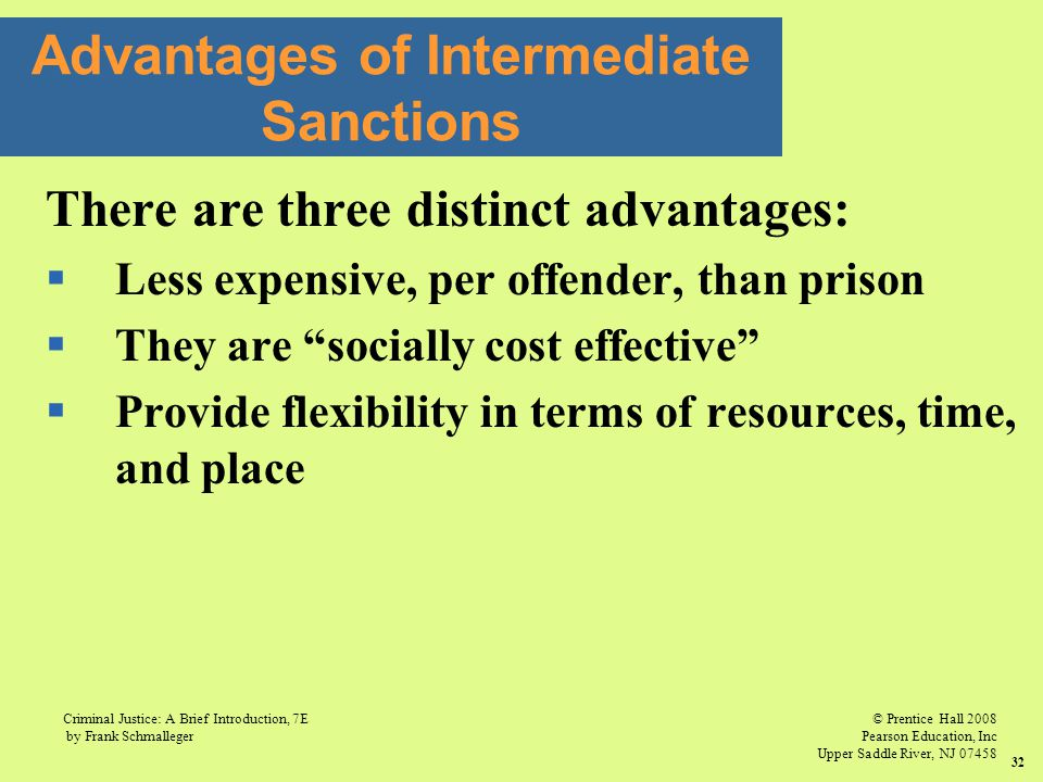 Advantages of Intermediate Sanctions