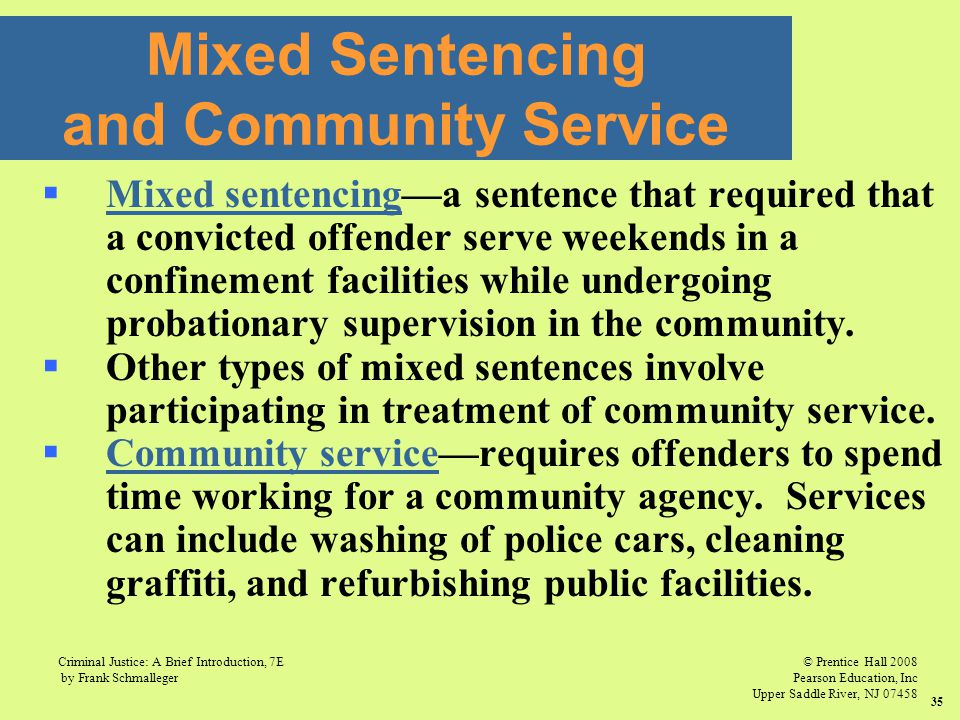 Mixed Sentencing and Community Service