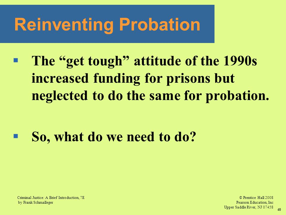Reinventing Probation