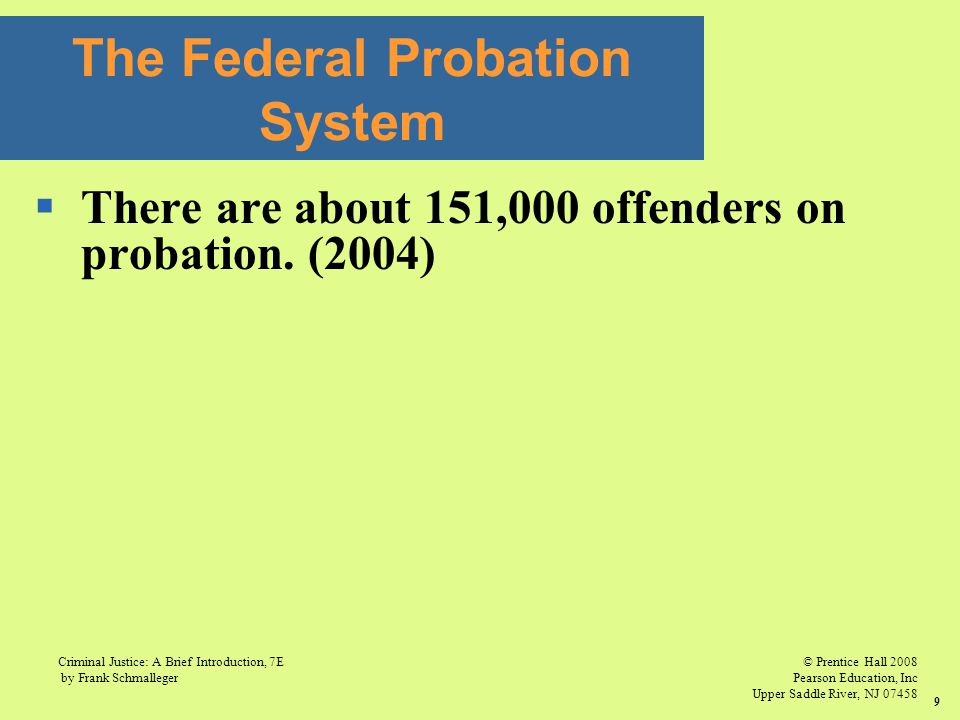 The Federal Probation System