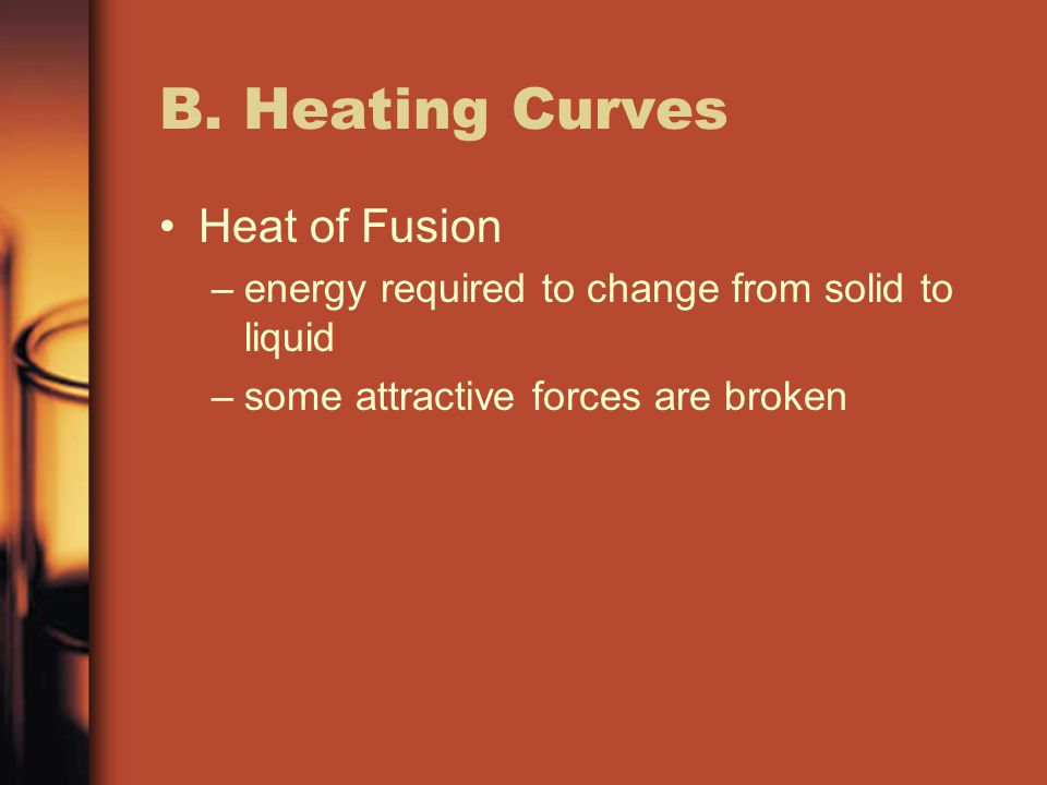 B. Heating Curves Heat of Fusion