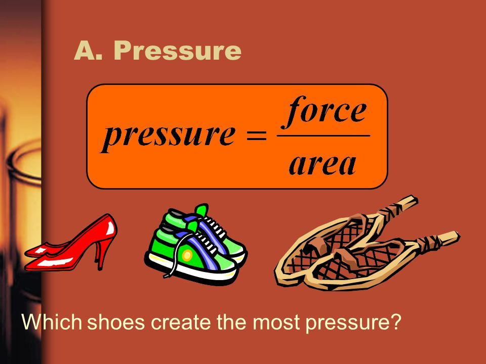 A. Pressure Which shoes create the most pressure