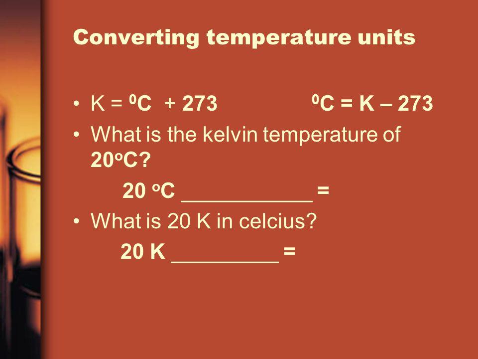 Converting temperature units
