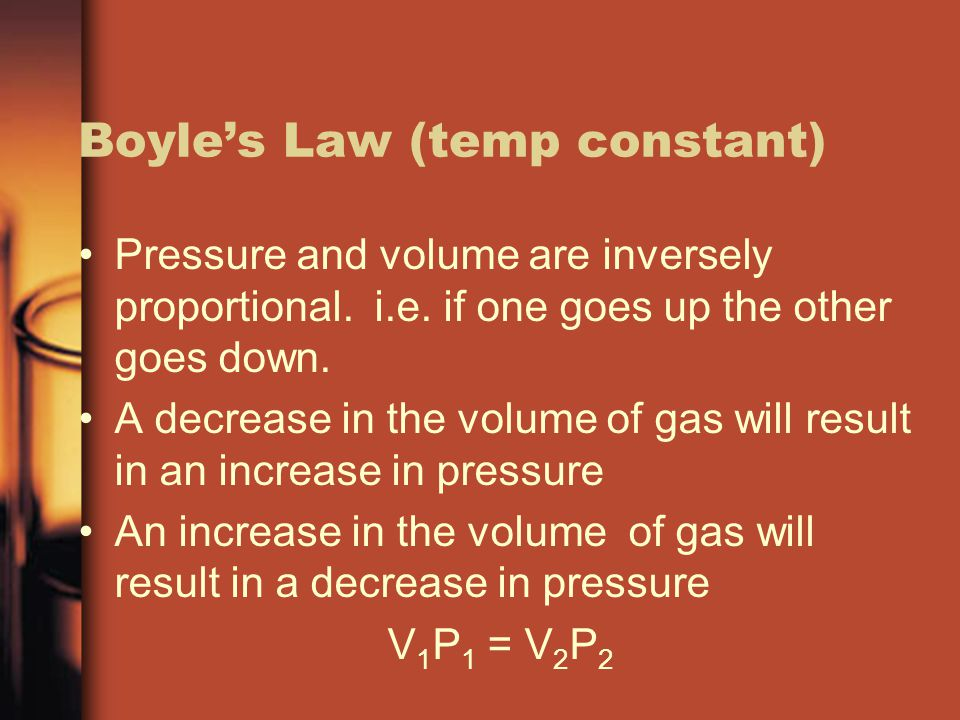Boyle's Law (temp constant)