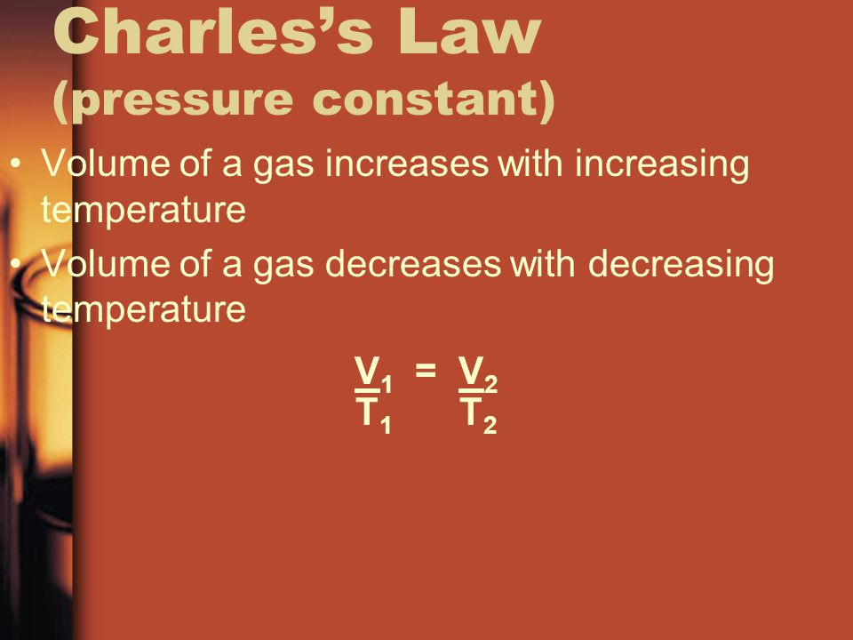 Charles's Law (pressure constant)