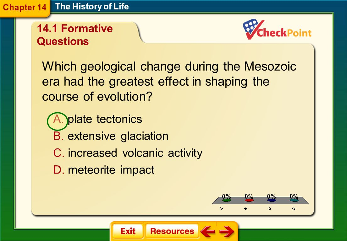 Which geological change during the Mesozoic