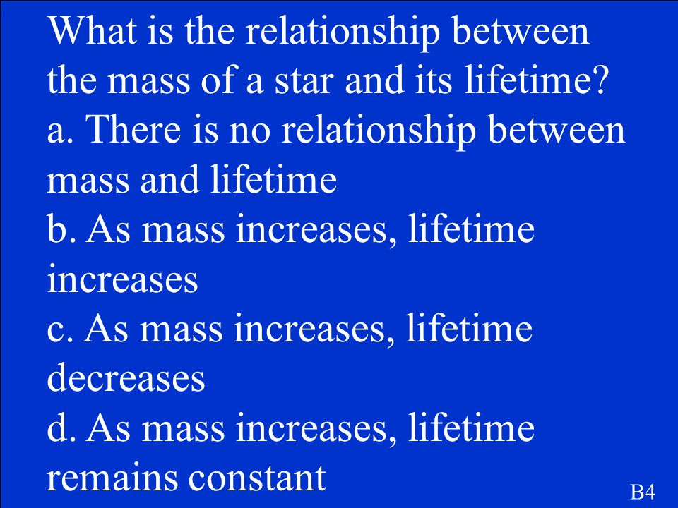 What is the relationship between the mass of a star and its lifetime