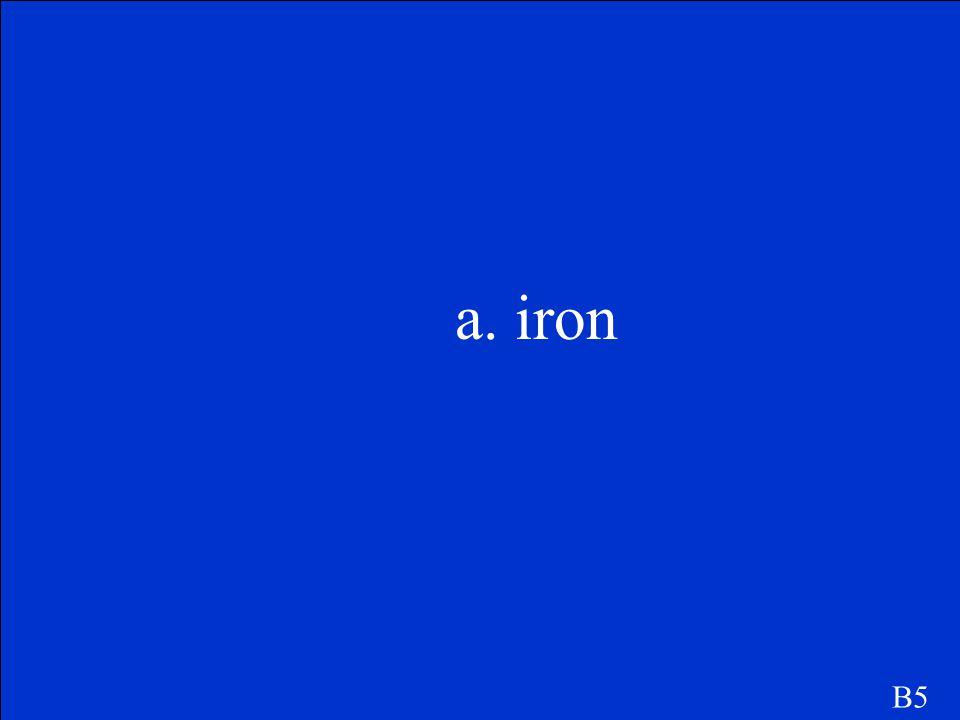 a. iron B5