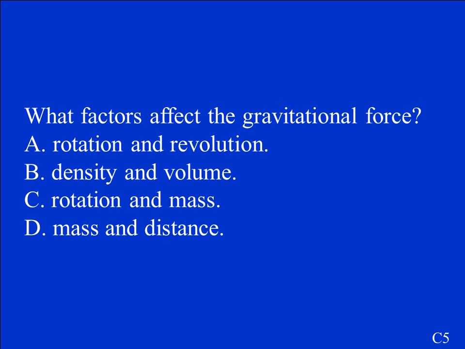 What factors affect the gravitational force