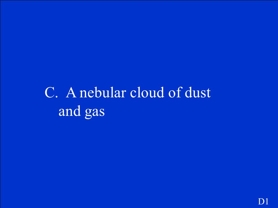 C. A nebular cloud of dust and gas